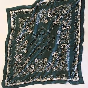 Madewell Green Silk Bandana